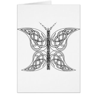 Celtic Butterfly Black and White Card