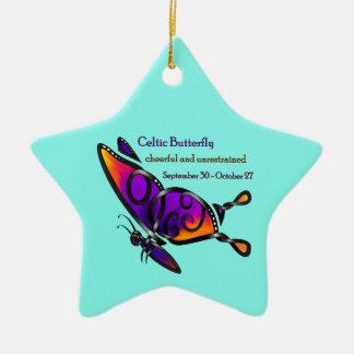 Celtic Butterfly Ceramic Ornament
