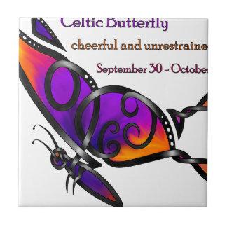 Celtic Butterfly Ceramic Tile