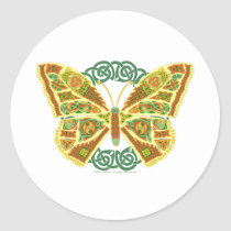 Celtic Butterfly Classic Round Sticker