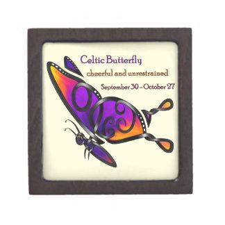 Celtic Butterfly Jewelry Box