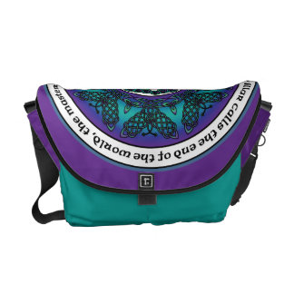 Celtic Butterfly Mandala Courier Bag