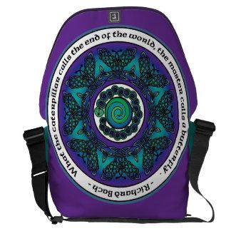 Celtic Butterfly Mandala Messenger Bag