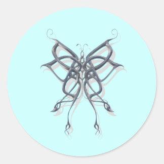 Celtic Butterfly Metal Sticker
