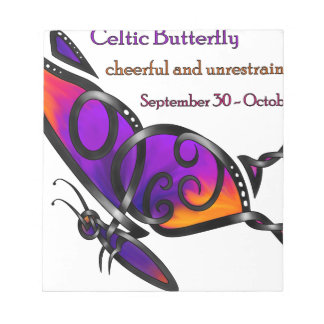 Celtic Butterfly Note Pad