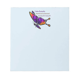 Celtic Butterfly Notepad
