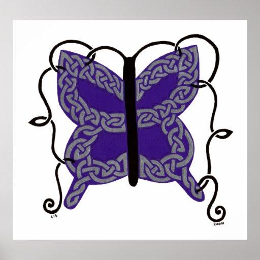Celtic Butterfly print