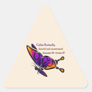 Celtic Butterfly Triangle Sticker