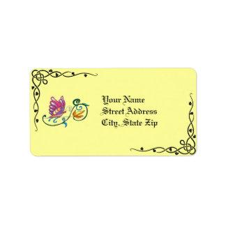Celtic Butterfly & Vine Address Labels