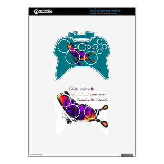 Celtic Butterfly Xbox 360 Controller Skin
