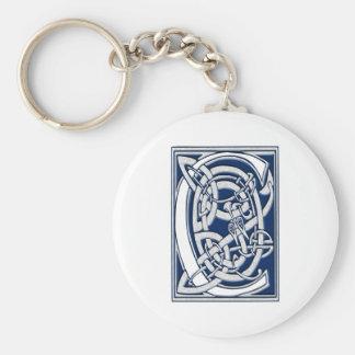 Celtic C Monogram Basic Round Button Keychain
