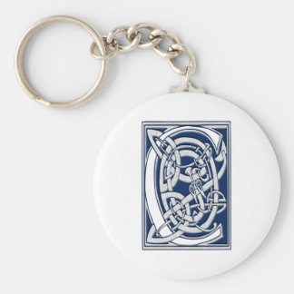 Celtic C Monogram Keychain
