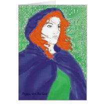 Celtic Card, Bridget & Knotwork Design