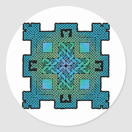 Celtic Castle Classic Round Sticker