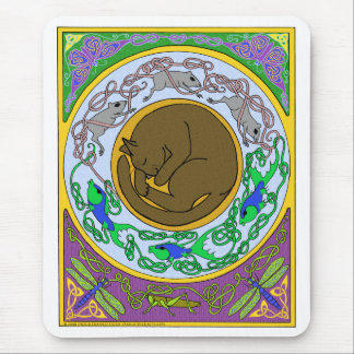 celtic cat dreams mouse pad
