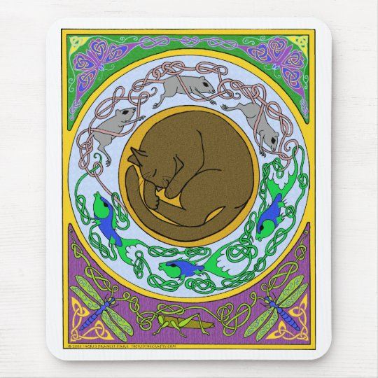 celtic cat dreams mouse pad