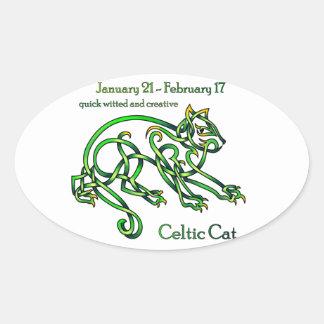 Celtic Cat Sticker
