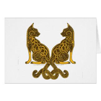celtic cats 6 bronze gold card