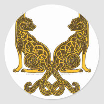 celtic cats 6 bronze gold