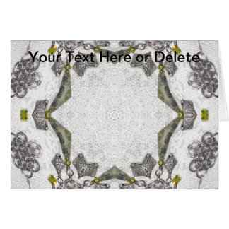 Celtic Chainlink Kaleidoscope Mandala Card