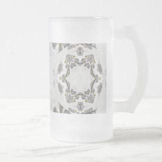 Celtic Chainlink Kaleidoscope Mandala Frosted Glass Beer Mug