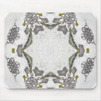 Celtic Chainlink Kaleidoscope Mandala Mouse Pad
