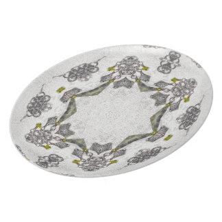 Celtic Chainlink Kaleidoscope Mandala Plate