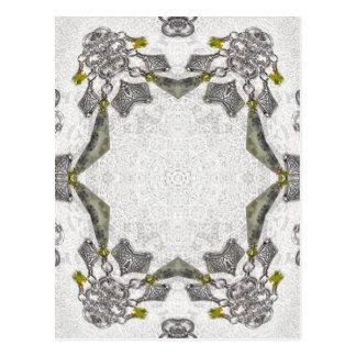 Celtic Chainlink Kaleidoscope Mandala Postcard