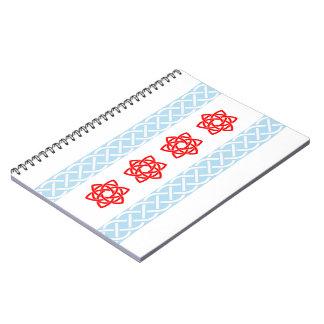 Celtic Chicago Flag Irish Spiral Bound Notebook