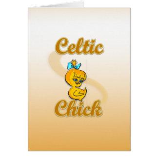 Celtic Chick Card