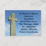 Celtic Christian cross business card