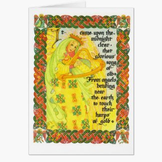Celtic Christmas Angel Card