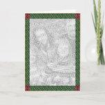 Celtic Christmas border card