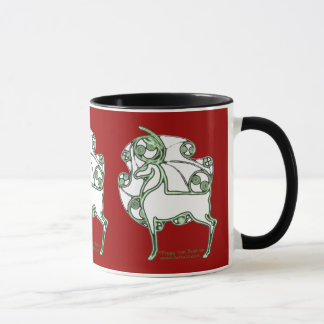 Celtic Christmas Deer Mugs