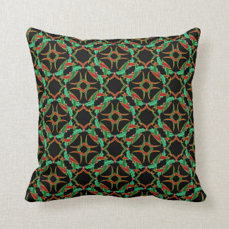 Celtic Christmas Holly Wreath Pattern Pillow