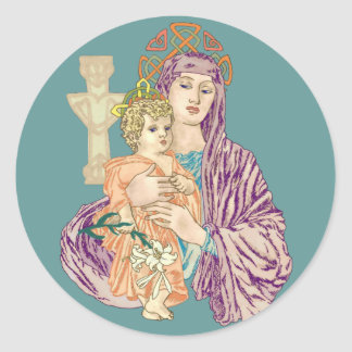 Celtic Christmas Madonna Stickers