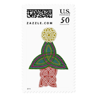 Celtic Christmas Stamp at Zazzle