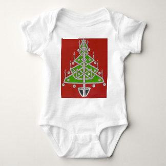Celtic Christmas Tree Baby Bodysuit