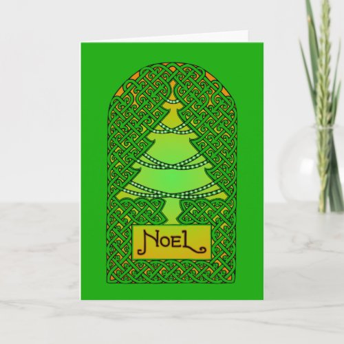 Celtic Christmas Tree - Green