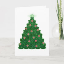 Celtic Christmas Tree Holiday Card