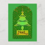 Celtic Christmas Tree Holiday Postcard