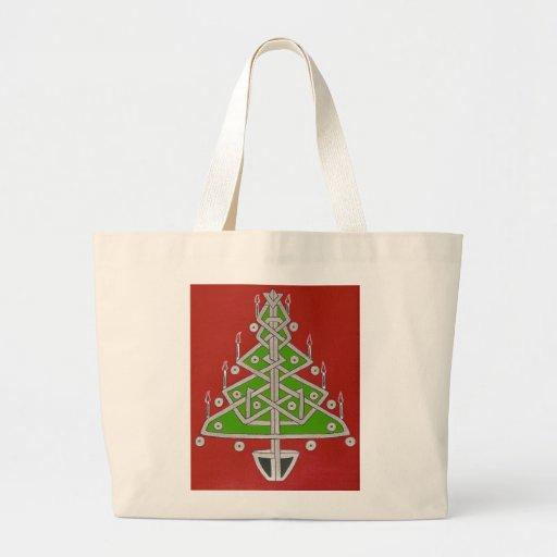 Celtic Christmas Tree Jumbo Tote Bag