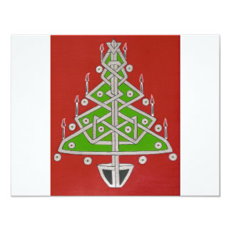 Celtic Christmas Tree Personalized Invites