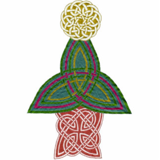 Celtic Christmas Tree Standing Photo Sculpture