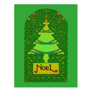 Celtic Christmas Tree Postcard