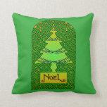 Celtic Christmas Tree Throw Pillow