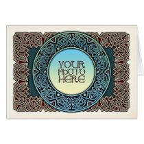Celtic Circle Border Photo Frame Greeting Card