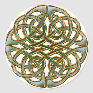 Celtic circle classic round sticker