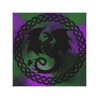 Celtic Circle Dragon Canvas Print