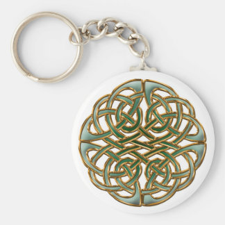 Celtic circle basic round button keychain